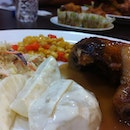 Roasted chicken and side dish #food #foodporn #blurpple