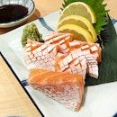Salmon Belly Sashimi ($28)