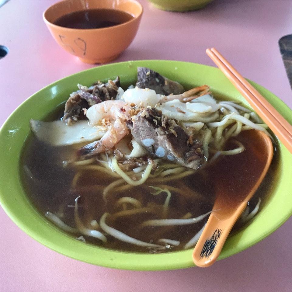 Prawn Mee Soup ($4)