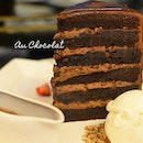 Sharing a huge-ass #TowerCake with #icecream at #AuChocolat.