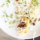 #BlackPepperPork on crunchy #MelbaToast!