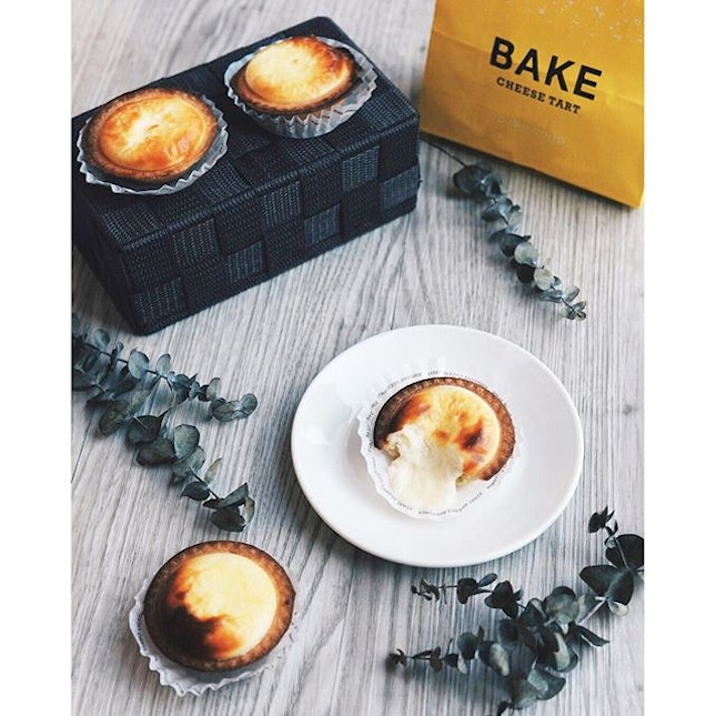 Got to eat these precious #cheesetarts from #Bake thanks to my lovely gorgeous friend who queued up for 2 hours!