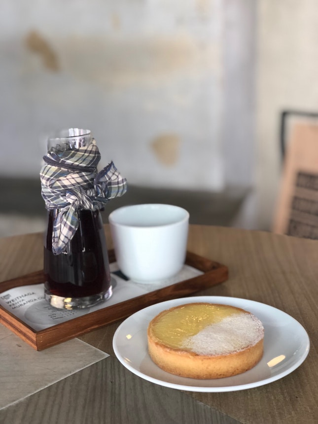 Lemon Tart With Filter Coffee