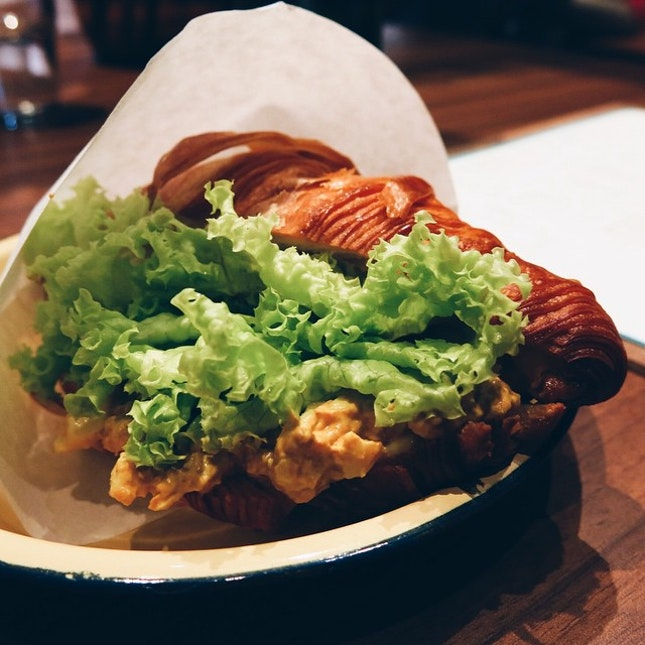 Percolate recently opened its doors after closing for renovations and one of my favourite items in the menu has got to be the Curry Egg Mayo Croissant ($7).