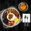 Nasi Ambeng is a communal style of a family meal where rice and other savoury dishes are nicely placed on a huge platter.