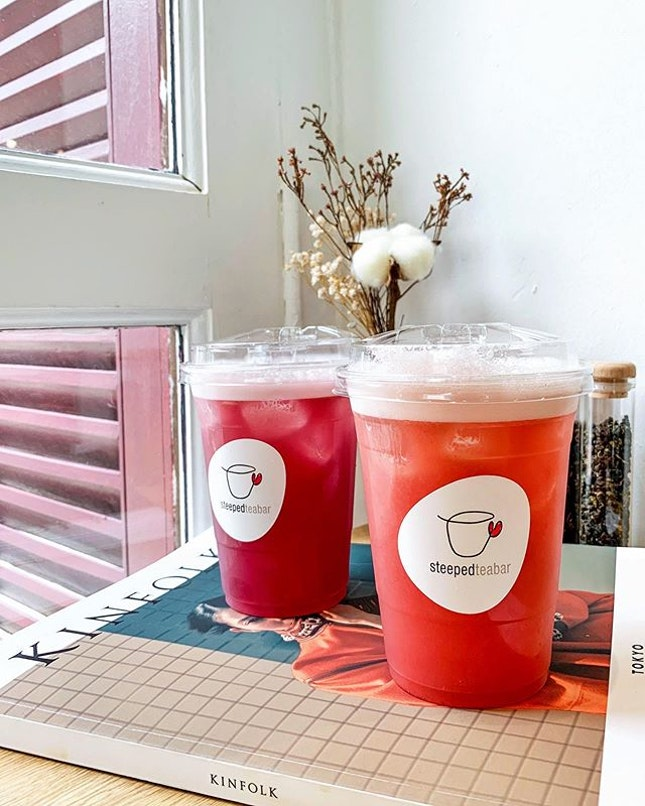 For a different tea-perience, head over to Steeped Tea Bar for an espresso-brewed tea with unique concoctions such as Grape Oolong and Strawberry Basil Oolong.
