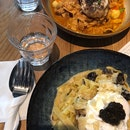 Laksa Barramundi and Truffle Carbonara