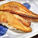 Anago Nigiri  Fat, sumptuous salt-water Grilled Eel on a bed of beautifully seasoned Sushi Rice.