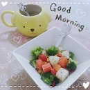Good morning~ヾ(^ω^*) Salad for the start of the day~