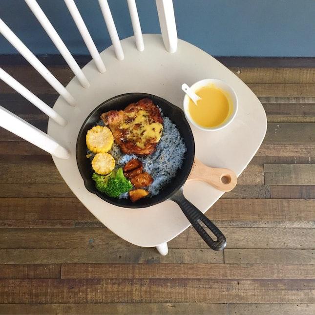 Chef Hong Kitchen | Salted Egg Yolk Chicken Rice