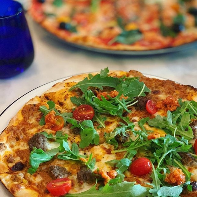 After hearing SO MANY people rave about @pizzaexpresssg, I finally went and indeed the pizza was as good as they said.