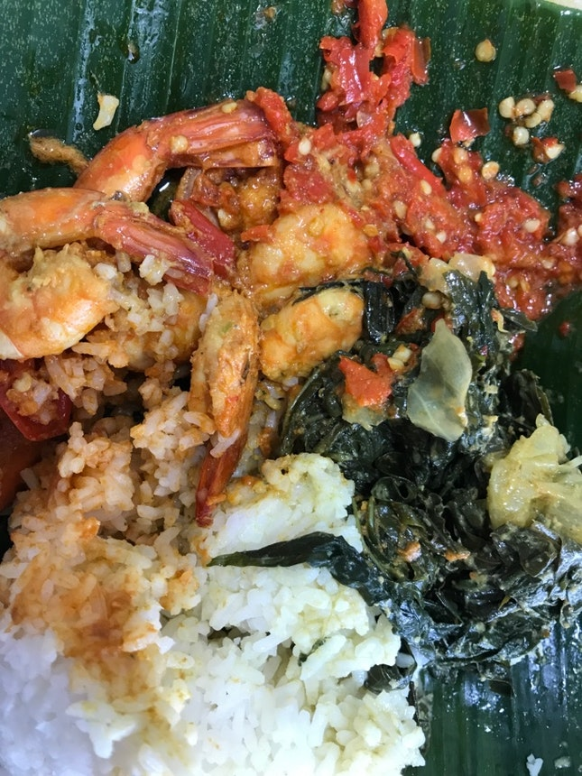 Udang Sambal & Mixed Vegetable Set