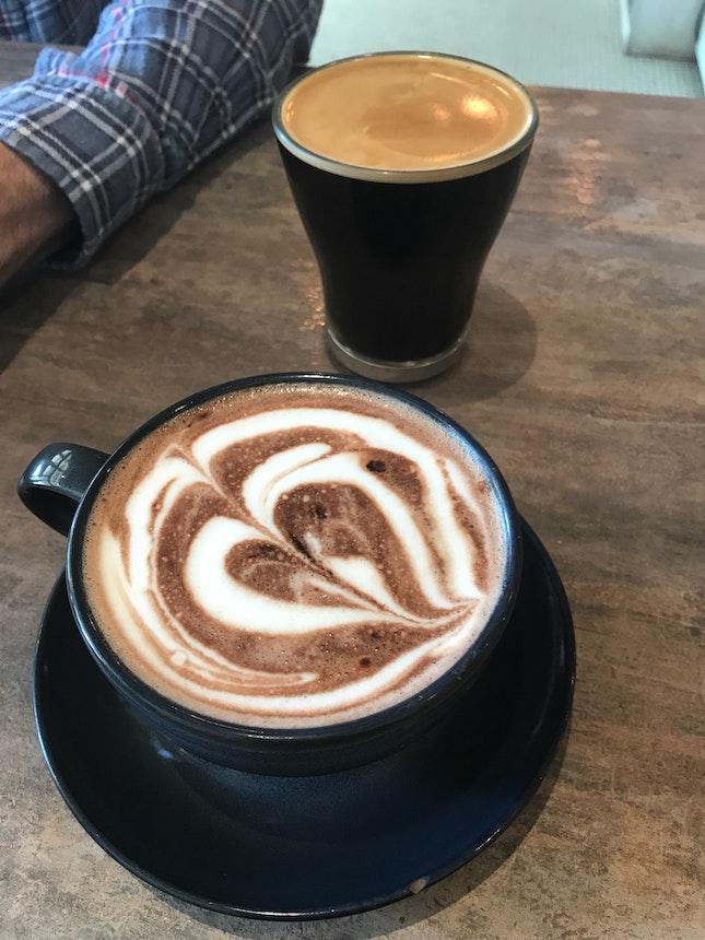 Long Black $5 & Hot Chocolate $5