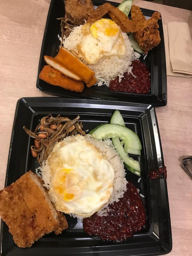 Chicken Cutlet $5.90 & Royale Nasi Lemak $7.90
