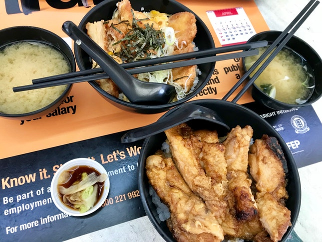 Chicken Katsu Don $5.80 (top) / Chicken Teriyaki Don $6.80