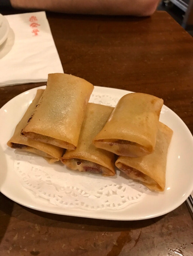 Sliced Duck In Crispy Spring Onion Pastry $7.8