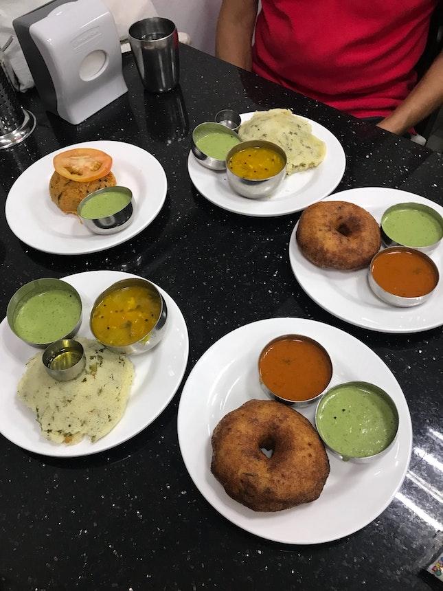 Rava Idly [$4 Each] Uddina Vada [$2.5 Each] Khara Bhath [$4]