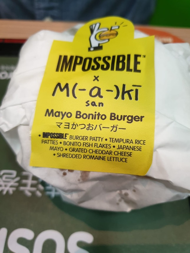 Mayo Bonito burger UP $10.90 (20% Off Using Singtel Dash)