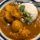 Curry Chicken With Rice Set