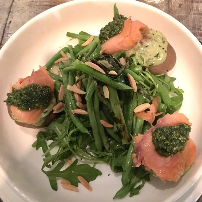 Warm Smoked Salmon & Potato Salad