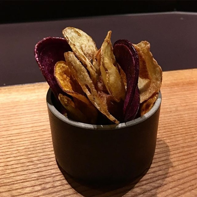 Market chips with black sugar and Kyoto Shichimi.