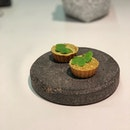 Split Gill: Mushroom Chettinad tart sprinkle with mushroom powder.