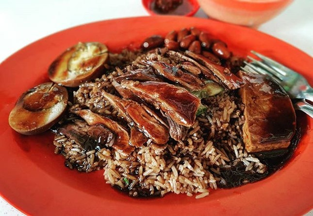 braised duck rice 👍🏻 29.1.18 #foodporn #sgfoodporn #foodsg #sgfoodies #instafood #foodstagram #cafehoppingsg #sgcafefood #vscofood #burpple #hungrygowhere