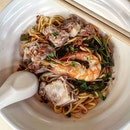 prawn noodles dry 👍🏻 22.10.19 #foodporn #sgfoodporn #foodsg #sgfoodies #instafood #foodstagram #vscofood #burpple #hungrygowhere #hawkerfood #hawkercentre