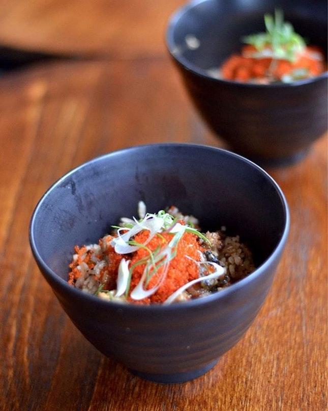 Eel garlic fried rice from @chikinbar.