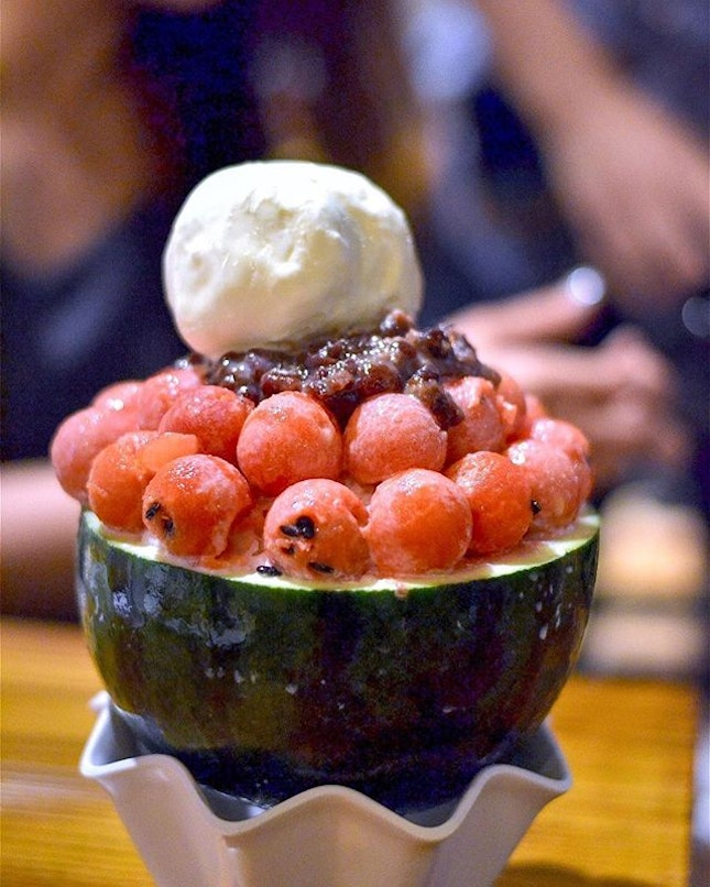 Watermelon Bingsu from @chickenupsg .