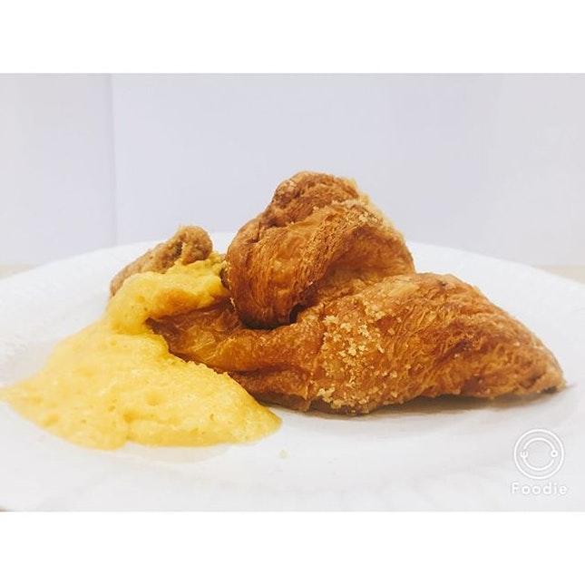 Salted egg yolk croissant ($6.90)