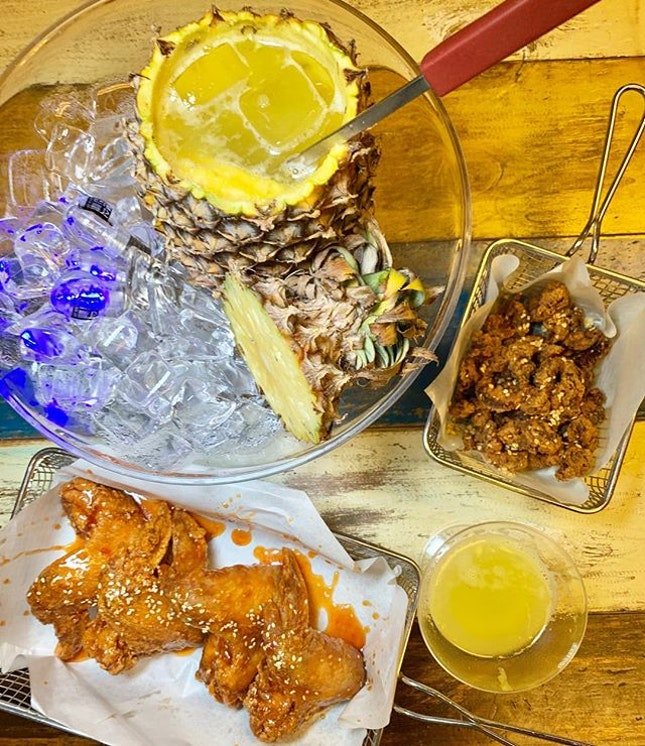 Chicken 🐓 + Soju