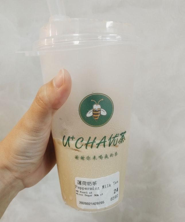 Peppermint Milk Tea
