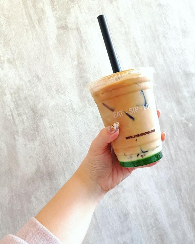 Gula Melaka Pandan 🍃 Latte with Coffee Jelly ($6.90)