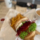 Avocado Beetroot Burger [$11.90 + $3.90 for Set Meal]