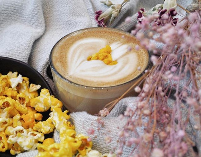 • The Nostalgic Popcorn Latte • ~ Be enchanted by delicate nuances of buttery popcorn as they rekindle bitter-sweet memories of movie dates with your first love.