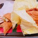 Samurai Chicken Burger & Creamy Herb Chicken Pie