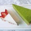 Green Tea Mille Crêpes & Strawberry Shortcake