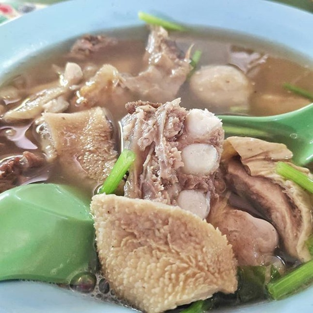 Mutton soup 羊渣湯 ($5).