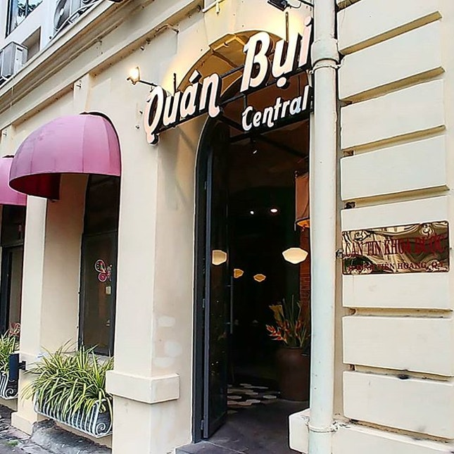Just across the street from the Sofitel Saigon Plaza, a nice cosy Viet chain restaurant, the Quan Bui (Central).