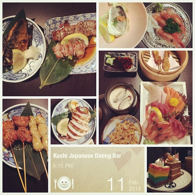 #sayhi to #oishii #alacarte #japanese #buffet #again #freshsliced #sashimi #wellgrilled #yakitori #happyfood for #happybirthdaybaby #instafood #foodporn  #foodlover #burpple #midweekfever #kushijapanesediningbar #revisit