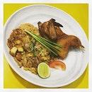 #roastedchicken #padthai #fushion #interesting #combination #instafood #foodporn #foodlover #burpple #instadinner #instaweekend #threebytableconcepts