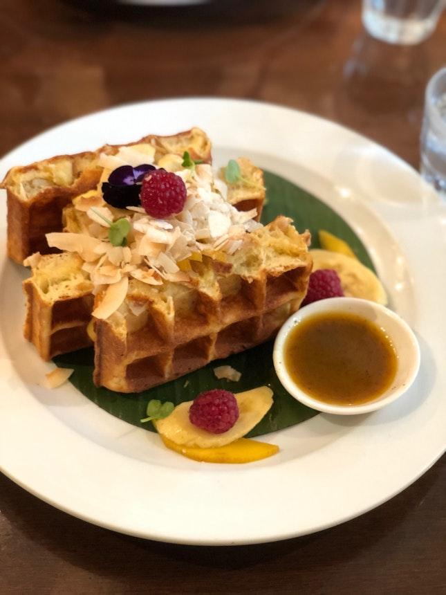 Mango / Passionfruit Waffles - Meh
