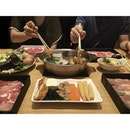 [somerset] shabu shabu cravings at shabu sai  you order the meat and get a counter full of  buffet ingredients to choose from.