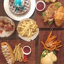 📍bucktile cafe [clementi] • lunch galore at @bucktile.st • fancy some blue velvet waffles and an assortment of burgers and mains?