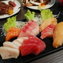 Swordfish, Tuna, Salmon, Tai And White Tuna Sashimi