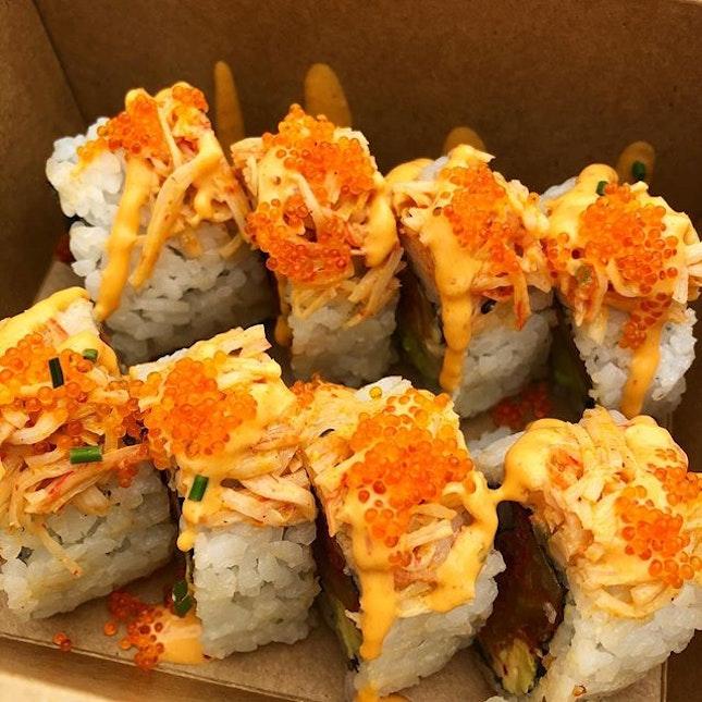 Takeout k-pop sushi rolls!