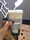 Jasmine Green Tea W Cheese Foam, Ice Cream And Boba
