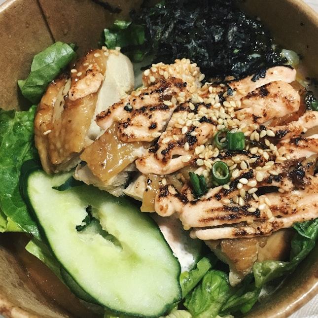 Grilled Teriyaki Chicken Bowl w Mentaiko Sauce