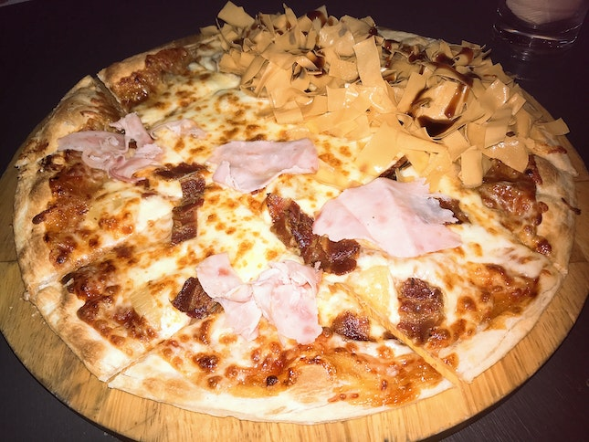 Roasted Duck and hawaiian pizza